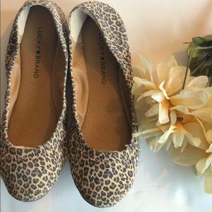 Lucky Brand leopard print Emmie ballet flats